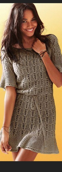 Victoria's Secret Dresses & Skirts - Victoria's Secret Crochet Flutter Beach Dress
